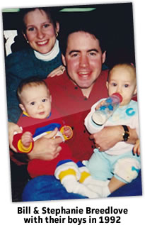 Bill And Stephanie With Their Boys in 1992