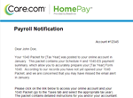 Payroll Notification Email