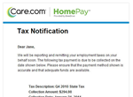 Tax Notification Email